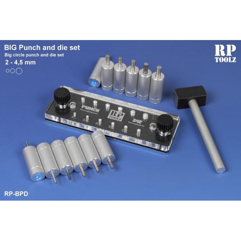 Punch and die set de 2,0 à 4,5 mm pas de 0,1 mm