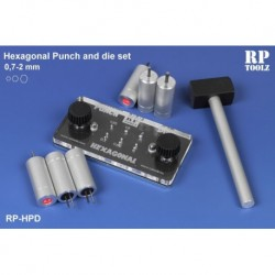 Punch and die set hexagonal de 0,7 à 2,0 mm