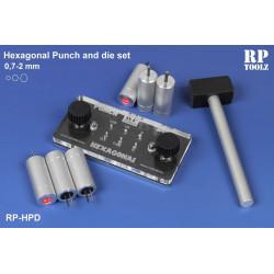 Punch and die set hexagonal de 0,7 à 2,0 mm