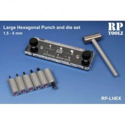 Punch and die set hexagonal de 1,5 à 5,0 mm