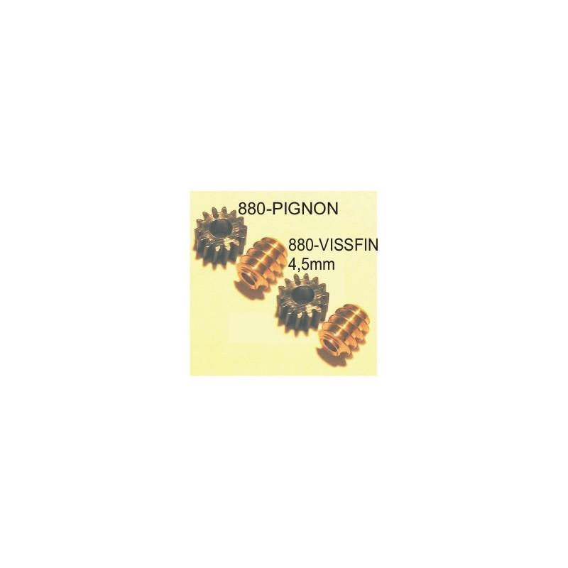 Vis sans fin module 03 pour axe moteur de 1,5mm