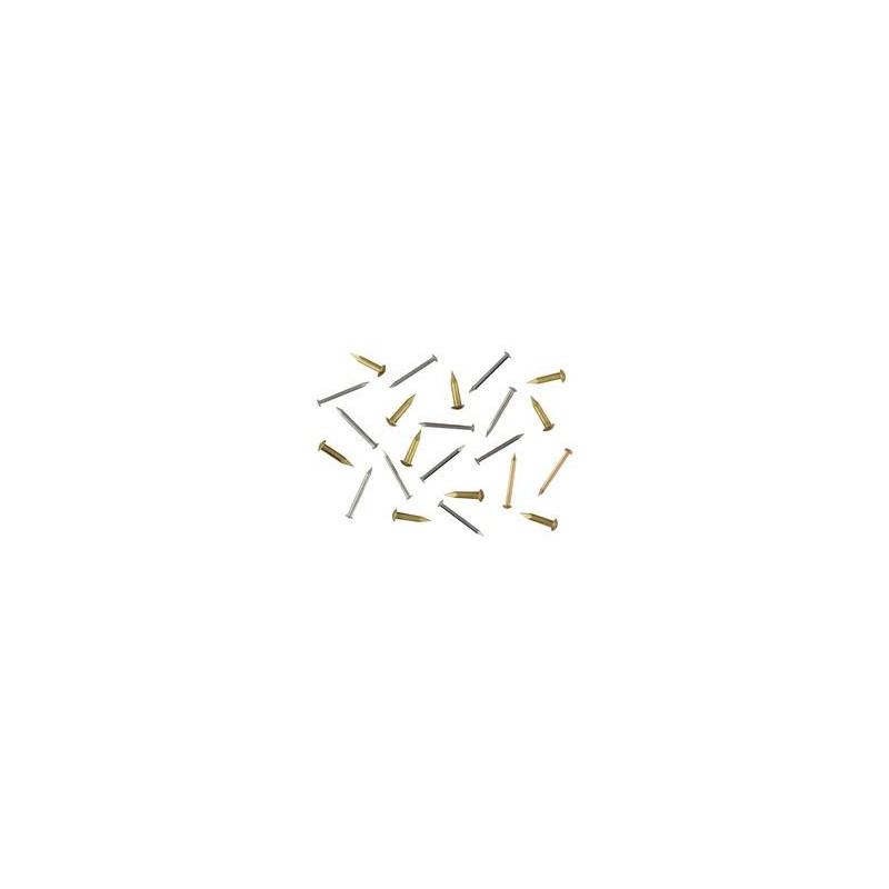 Clou laiton D 0,9 mm, tête bombée 1,9 mm L 6 mm