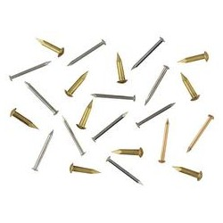 Clou laiton D 1,8 mm, tête bombée 3,5 mm L 13 mm