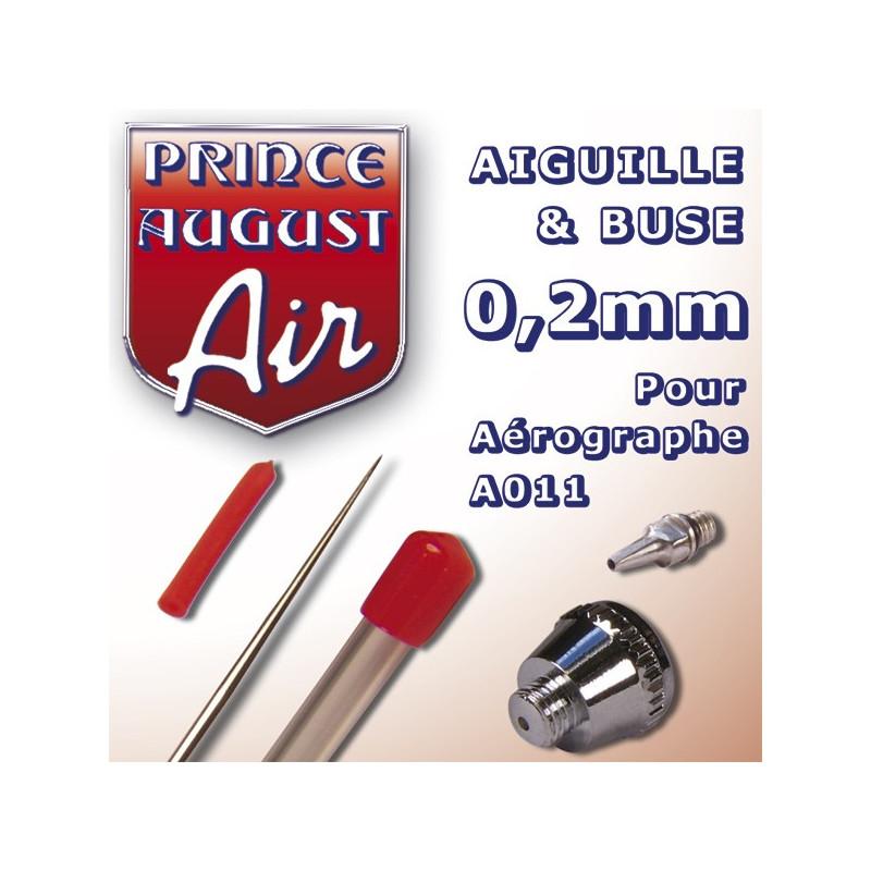 Aiguille et buse de 0,2 mm pour Aérographe A011
