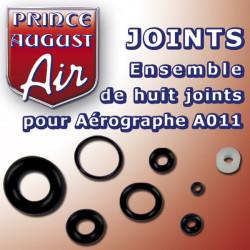 Ensemble de huit joints pour Aérographe A011