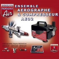 Ensemble Aérographe & Compresseur AE02+