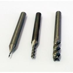 Fraise à 4 dents pour usinage 1,0mm - Queue 6mm