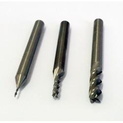 Fraise à 4 dents pour usinage 2,0mm - Queue 6mm