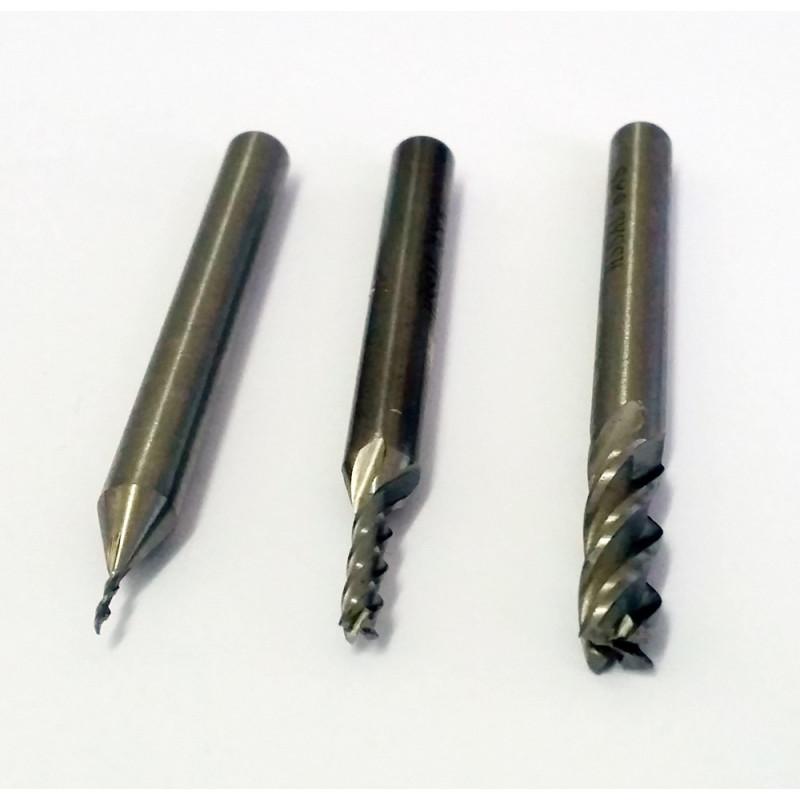 Fraise à 4 dents pour usinage 3,0mm - Queue 6mm