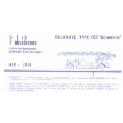 Kit résine HO et détaillage camion incendie DELAHAYE TYPE 103