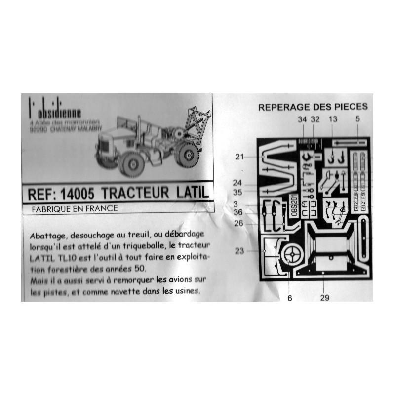Kit résine HO et détaillage tracteur Latil