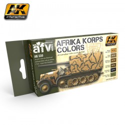 AK551 AFRIKA KORPS Color Set (Acrylic Paint Set)