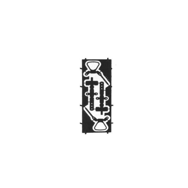 Sachet de 5 paires d'attelages à boucle HOe