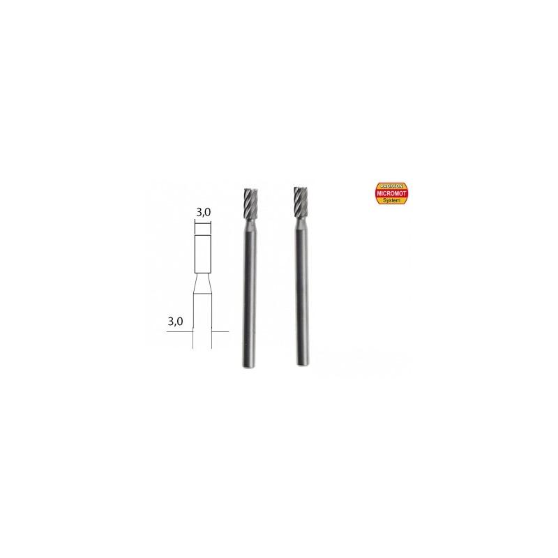 Fraise embout en acier wolfram-vanadium axe 3,0 mm - 2 pcs