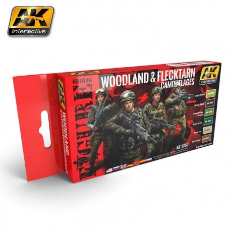 AK 3250 Woodland and Flecktarn Camouflages
