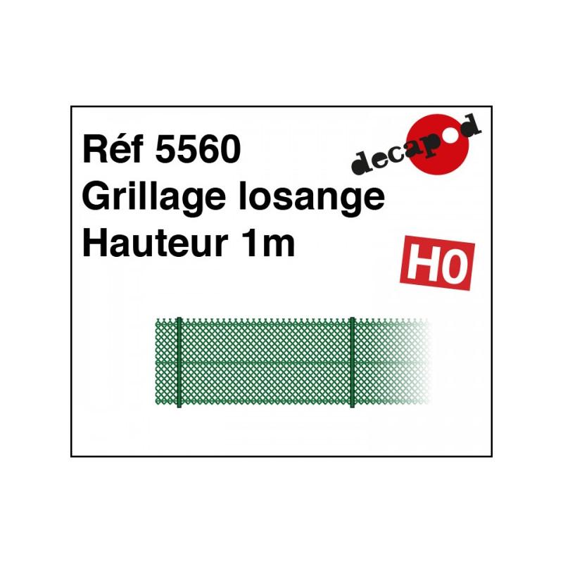 Grillage losange hauteur 1m