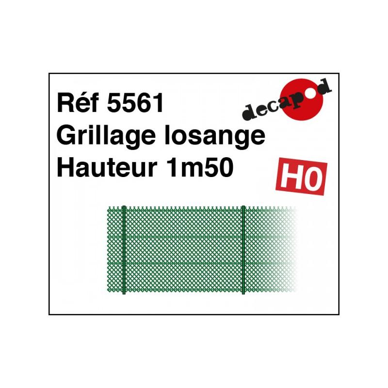 Grillage losange hauteur 1,50m