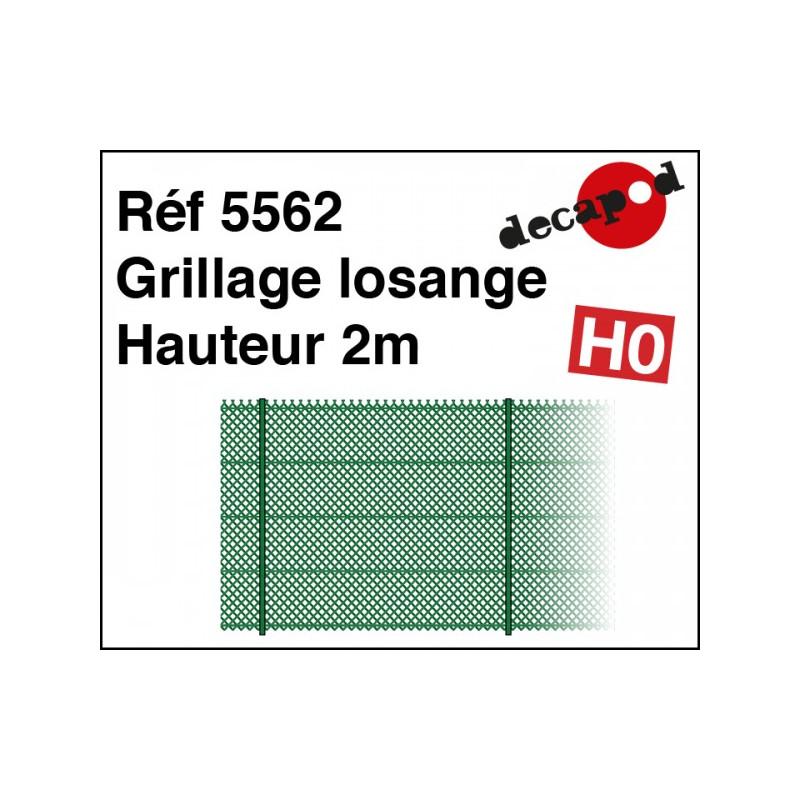 Grillage losange hauteur 2m