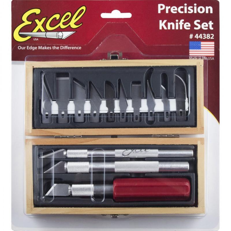 Coffret EXCEL 3 couteaux grandes et petites lames