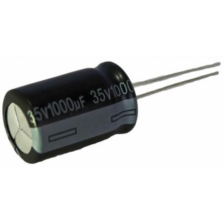 Condensateur chimique radial 1000µF 35V