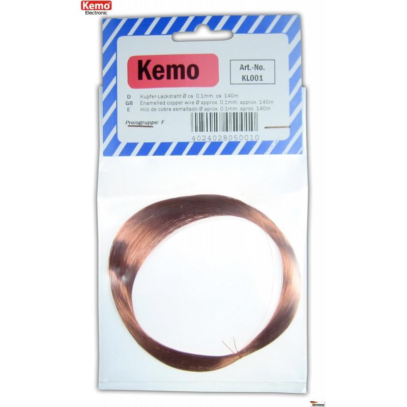 Fil de cuivre émaillé de 0,1 à 1,5 mm au choix