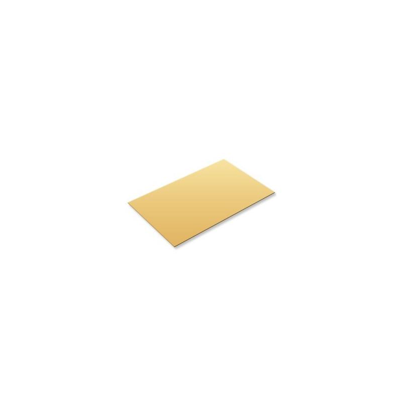 Plaque en laiton 100x250mm épaisseur 0,40mm