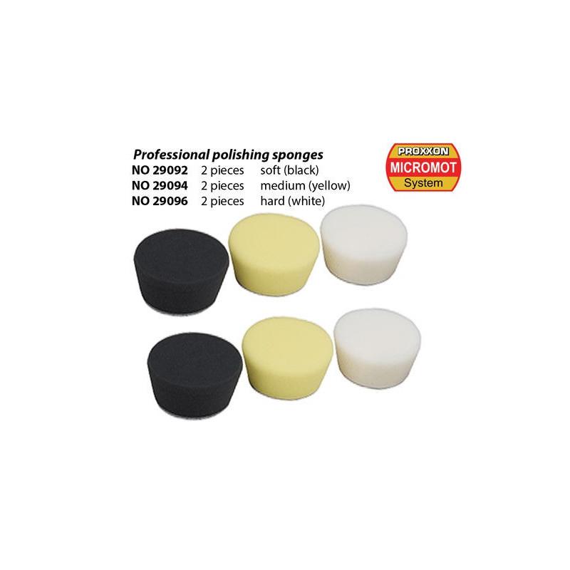 2 Eponges de polissage DUR (blanc)