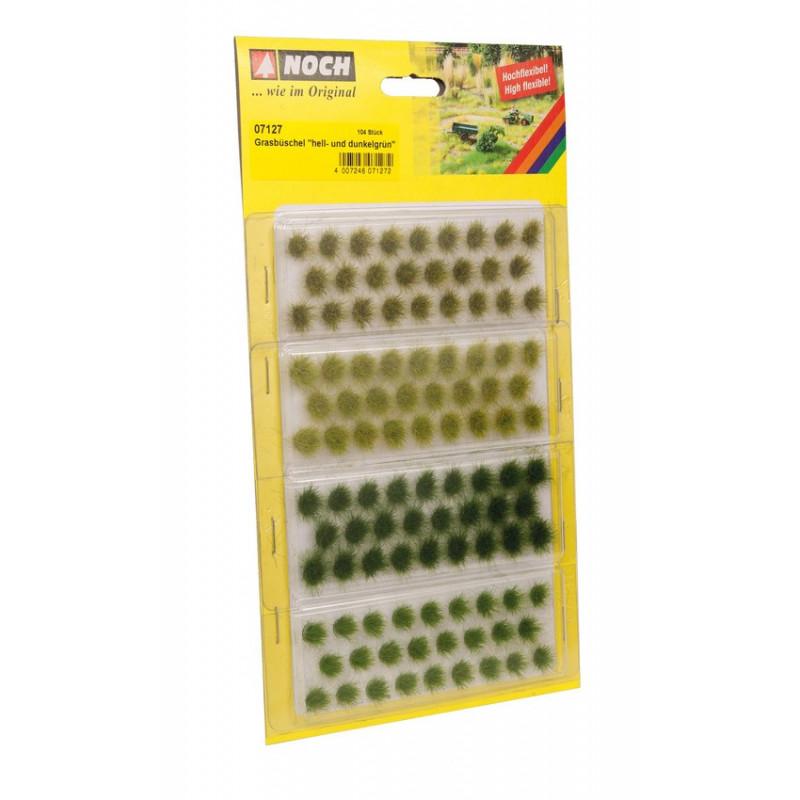 Touffes vert clair et foncé