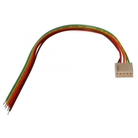 Connecteur avec câble femelle 3 contacts