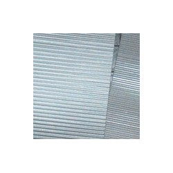 Sachet de 6 tôles ondulées à l'échelle N Longueur 19 cm largeur 1,2 cm