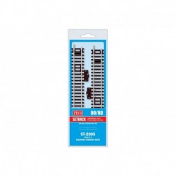 Rail droit standard isolé & interrupteur, 168mm