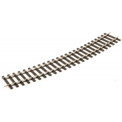 Rail courbe échelle zéro code 124 rayon 1028mm angle 22,5°