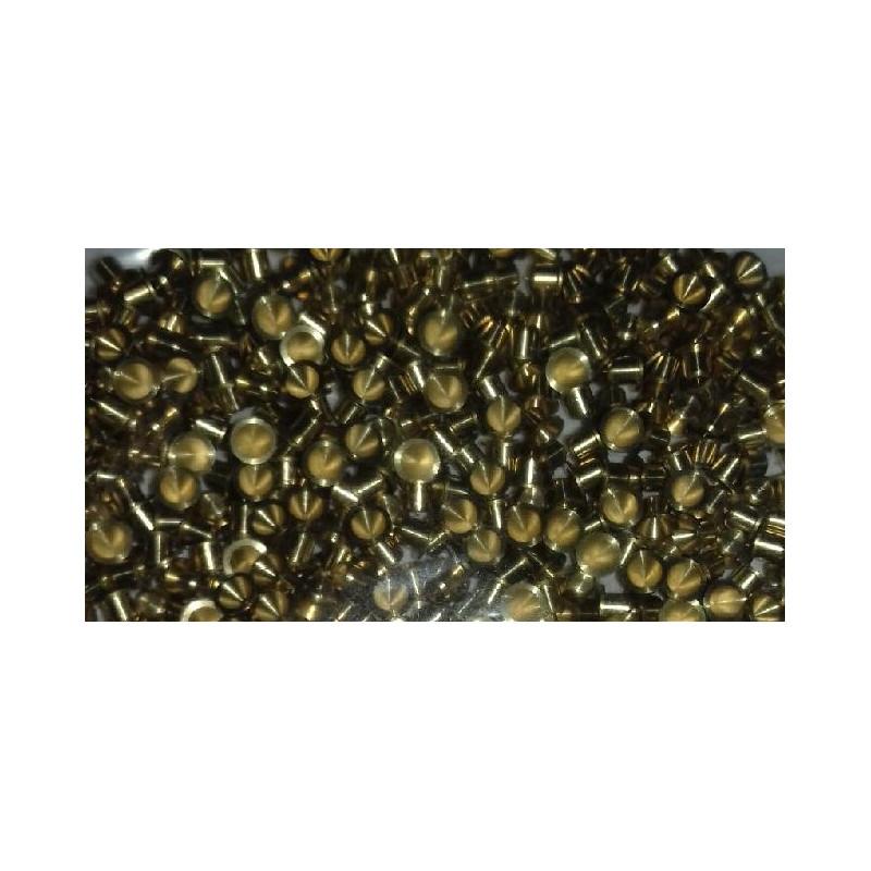 50 Paliers en laiton -Diamètre 2 mm - L 2 mm avec épaulement