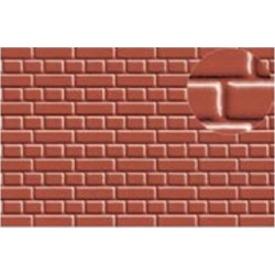 Échelle HO ou N - briques rouges environ 2mm de large
