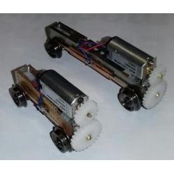 Bogie moteur HO métrique - entraxe sur mesure de 24 à 80 mm
