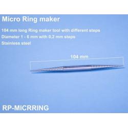 Outil de réalisation de bagues de 1 à 6mm