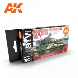 AK4130 MODERN RUSSIAN Colors Vol.1 (Acrylic Paint Set)