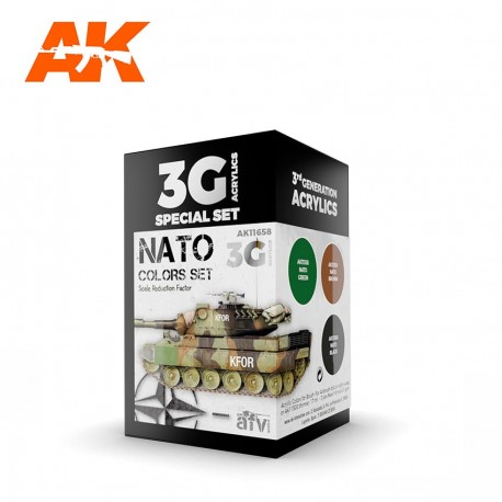 AK11658 NATO Colors Set (3G Acrylics)
