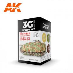 AK11664 German standard colors 43-45 (3G Acrylics)