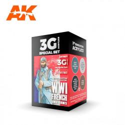 AK11637 WWI French Uniforms Set (3G Acrylics)