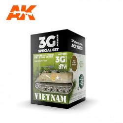 AK11659 VIETNAM Camouflage Colors (3G Acrylics)