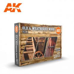 AK11673 OLD & WEATHERED WOOD Vol.1 (Acrylic Paint Set)