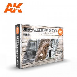 AK11674 OLD & WEATHERED WOOD Vol.2 (Acrylic Paint Set)