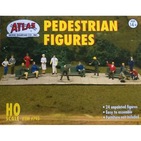 HO Atlas (USA) 24 figures à peindre dans différentes positions