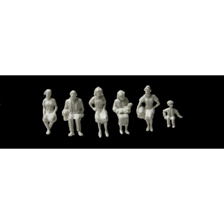 HO Ensemble de 72 figurines à peindre Walthers