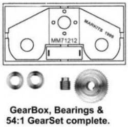 """Ensemble Romford - Réduction 30:1 Axe moteur 2,0mm - Axe de sortie 3/16"""" et FLASQUE MOTEUR"""