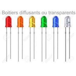 LED de 3 mm / couleur par 5 pièces