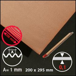 Tôle ondulée cuivre 1mm