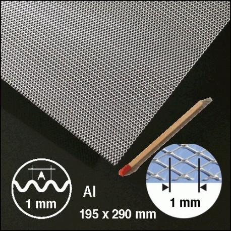 Métal déployé, ondulé aluminium 1mm