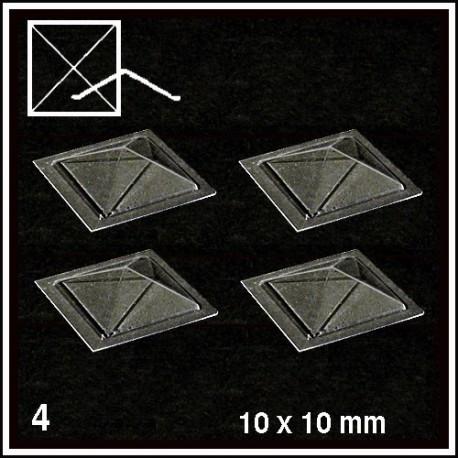 Coupoles pyramidales 30° 10x10mm